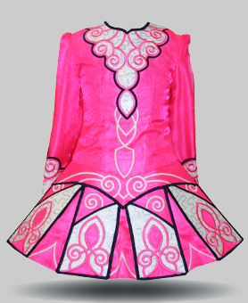 Class costume elevation design irish dancing dresses for Elevation dress designs