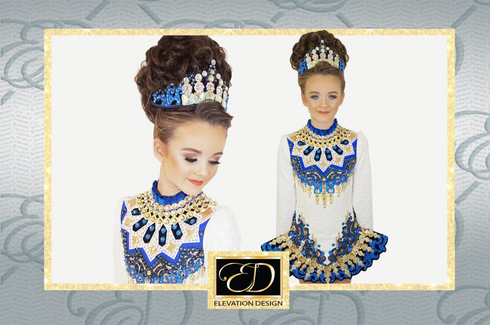 Blue Angel - Irish Dancing Costume